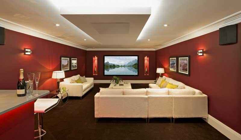 Modern Private Home Theater Decor Ideas