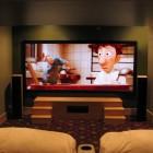 Simple Elegant Home Theater Speaker Positioning