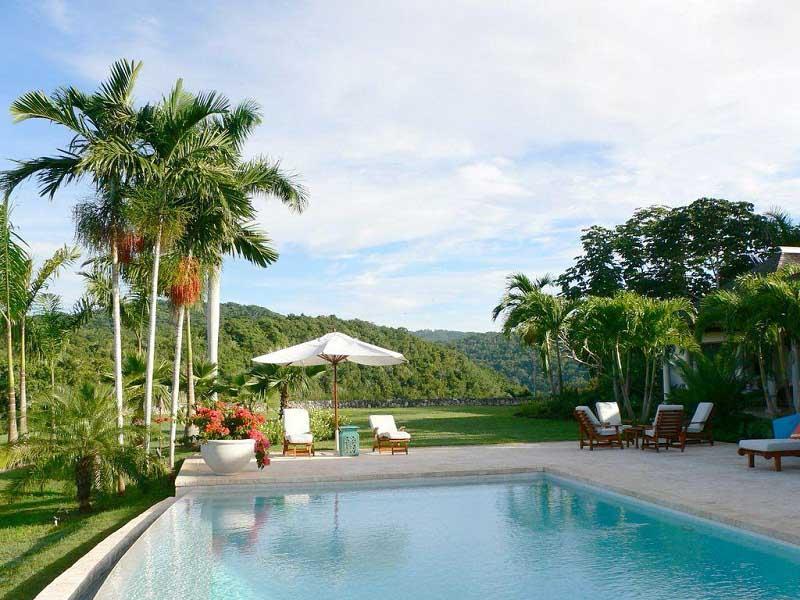 Tropical Landscape for Modern Modern Swimming Pool Design