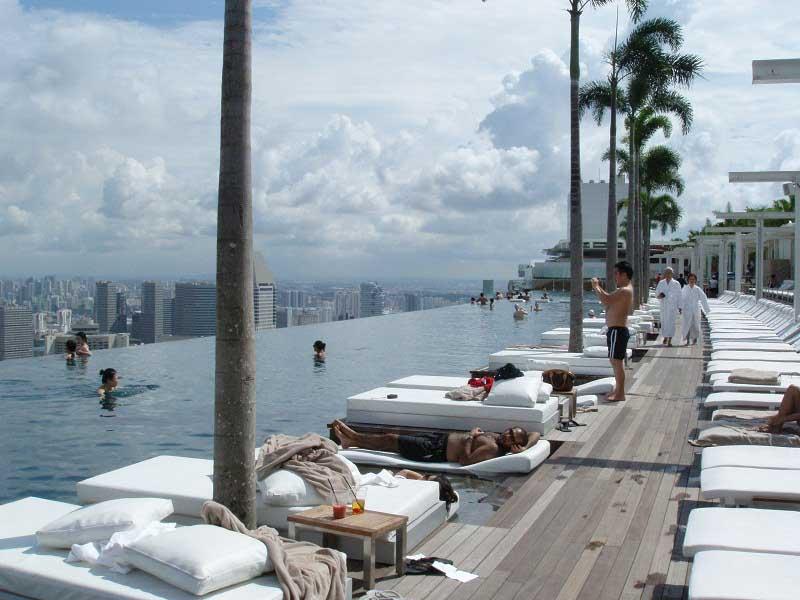 Singapore Rooftop Pool Amazing Sights From The Skyscraper Homescorner Com