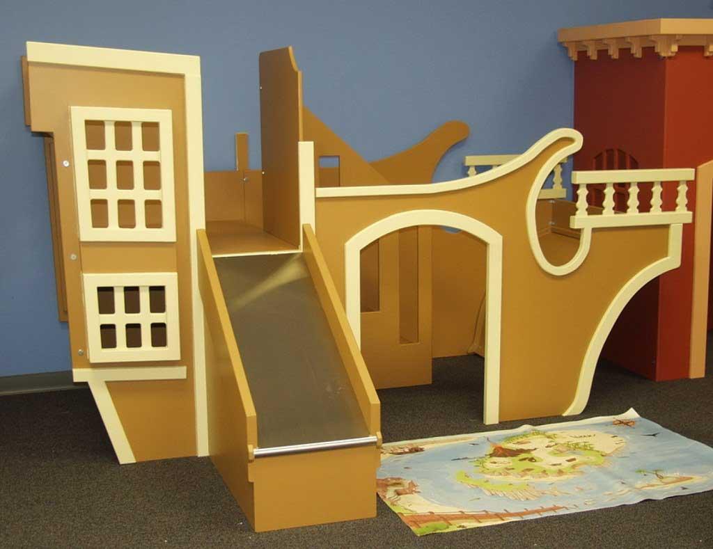 Indoor Kids Playhouse Design Ocean Ship Theme