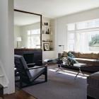 grey modern large framed mirror for living room ideas