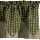 stripes Rustic Curtains Kitchen Design Ideas