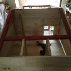 DIY chicken coop interior