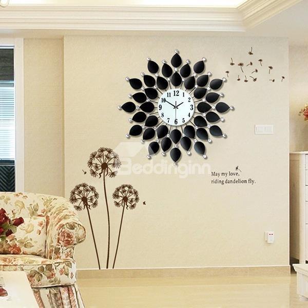 Modern Unique leaves decorative wall art clock
