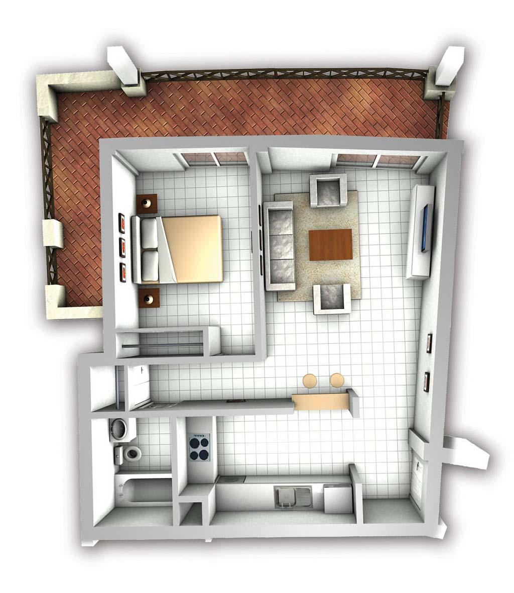 Creative Small Studio Apartment Floor Plans And Designs ...